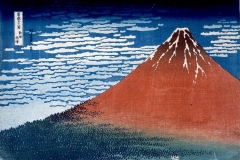 Clear-day-with-a-southern-breeze-'Red-Fuji'-from-Thirty-Six-Views-of-Mt-Fuji.-Colour-woodblock-1831.-cBritish-Museum.